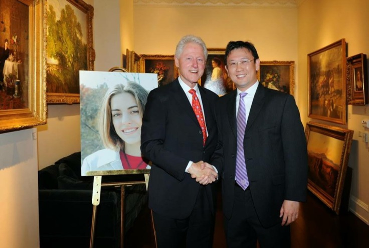 Bill Clinton with that baller Michael Zhuang.